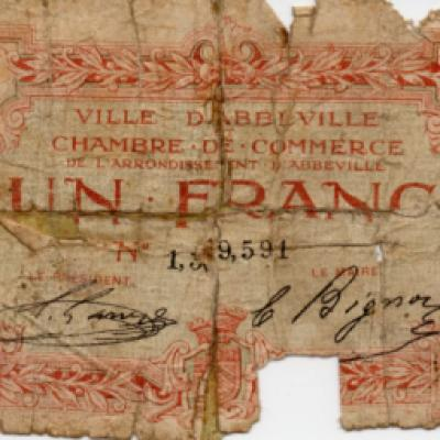 Abbeville 1 Franc note