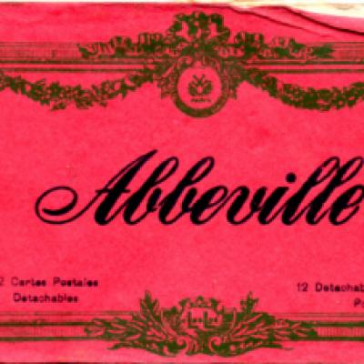 Abbeville postcard book (front)