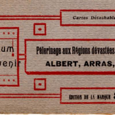 Albert Arras Lens postcard book (front)