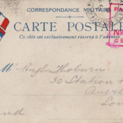 Carte Postal with Censors mark
