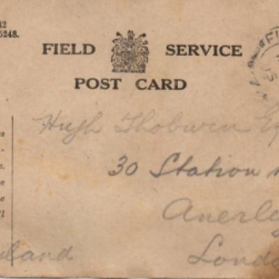 Field Service Postcard (adress side)