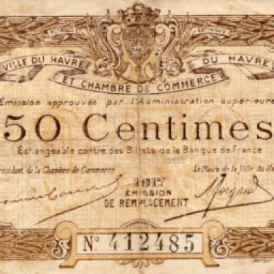 Havre 50 centimes note