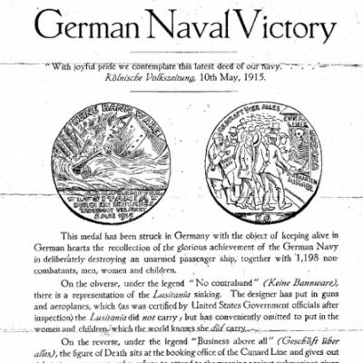 Lusitania Medal explanation