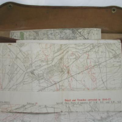 Map Case with Trench Details June 1918