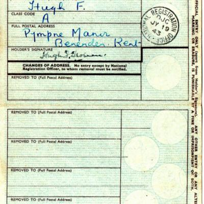 National Registration Card (inside)